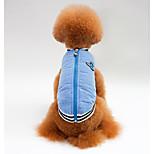Собака Жилет Одежда для собак На каждый день Сплошной цвет Синий Розовый