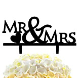 Acrylic Cake Stick Love Mr &Mrs Wedding Cake Decoration