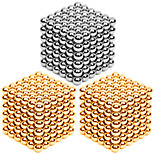 216*3PCS 3MM Golden&Silver DIY Magnetic Balls Sphere Bead Magic Cube Magnet Puzzle Building Block Toy