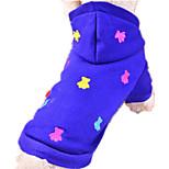 Собака Толстовки Одежда для собак На каждый день геометрический Серый Желтый Красный Синий