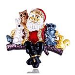Муж. Жен. Броши Имитация Алмазный Мода Chrismas Сплав Бижутерия Бижутерия Назначение Другое Рождество