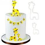 2PCS Cookie Cutter Plastic Fondant Cake Mold Cake Decorating Tools Mummy Baby Giraffe
