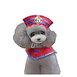 Dog Costume Dog Clothes Cosplay Sailor Red Blue