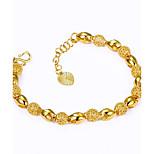 Men's Women's Chain Bracelet Adjustable Luxury Gold Plated Round Irregular Jewelry For Wedding Gift