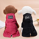 Dog Hoodie Jumpsuit Dog Clothes Warm Casual/Daily Keep Warm Solid Black Red Costume For Pets