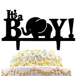 Cake Inserts Small Elephant Cake Card Creative Cake Decoration