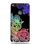 Case For Huawei P9 Lite P8 Lite (2017) Cover Plating IMD Pattern Back Cover Case Lace Printing Hard TPU