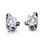 Men's Stud Earrings AAA Cubic Zirconia Fashion Rock Titanium Steel Jewelry For Daily Casual