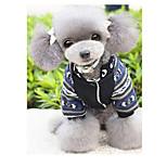 Собака Комбинезоны Одежда для собак На каждый день геометрический Черный Серый Красный