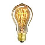 Недорогие -1шт 60W E26/E27 A60(A19) Тёплый белый 2200-2700 К Ретро Диммируемая Декоративная Лампа накаливания Vintage Эдисон лампочка 220-240V