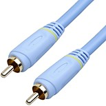 1RCA Connect Cable, 1RCA to 1RCA Connect Cable Male - Male Gold-plated copper 2.0m(6.5Ft)
