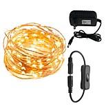 светодиодные фонари 10м 100 светодиодов водонепроницаемые декоративные светильники для спальни патио сторон 12v 3a разъем адаптера питания