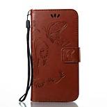 Per iPhone X iPhone 8 Custodie cover A portafoglio Porta-carte di credito Con supporto Con chiusura magnetica Decorazioni in rilievo
