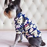 Собака Футболка Одежда для собак На каждый день Носки детские Красный Синий Розовый Темно-синий Светло-синий
