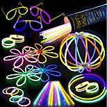 100 свечей пакетик пакет - 100 смешанных цветов 8 премиальных свечей с коннекторами, чтобы сделать браслеты очки цветки шарики и многое