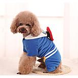 Собака Костюмы Одежда для собак На каждый день Носки детские Красный Синий