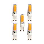 3W G9 Двухштырьковые LED лампы T 2 COB 240 lm Тёплый белый Белый 3000-3500/6000-6500 К AC 220-240 V 5 ед.