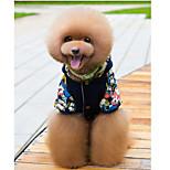 Собака Комбинезоны Одежда для собак На каждый день геометрический Желтый Синий