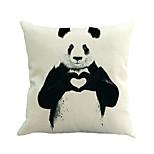 1 шт панда сердце подушка крышка творческий хлопок / льняная подушка случае подушка дивана