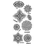 Tattoo Stickers Totem Series Pattern Lower Back Waterproof Women Men Teen Flash Tattoo Temporary Tattoos