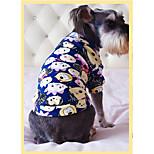 Собака Толстовка Одежда для собак На каждый день Носки детские Темно-синий Серый Красный Синий Розовый
