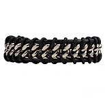 Men's Women's Chain Bracelet Leather Bracelet Fashion Simple Style Leather Alloy Round Jewelry For Daily Casual
