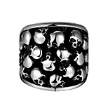 Men's Knuckle Ring Jewelry Punk Personalized Stainless Steel Geometric Skull Jewelry For Halloween Street