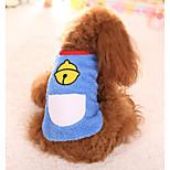 Собака Жилет Одежда для собак На каждый день геометрический Темно-синий Синий
