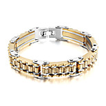Men's Chain Bracelet Punk Rock Titanium Steel Line Jewelry For Party Gift