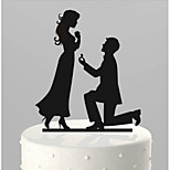 Acrylic Cake Inserts Abstract Bride And Groom Cake Doll Decoration