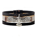 Men's Women's Leather Bracelet Vintage Personalized Leather Alloy Eagle Jewelry For Casual Stage