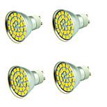 4 pezzi 5W Faretti LED 55 leds SMD 5730 Decorativo Bianco caldo Luce fredda 800lm 3000-7000K AC 12V