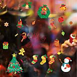 cheap -Art Deco Christmas Window Sticker, PVC/Vinyl Material Window Decoration Dining Room Living Room