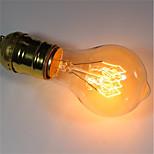 Недорогие -1шт 40 Вт E26/E27 A60(A19) Тёплый белый 2200-2700 К Ретро Диммируемая Декоративная Лампа накаливания Vintage Эдисон лампочка 220-240V