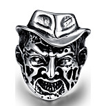 Men's Knuckle Ring Jewelry Punk Personalized Stainless Steel Alloy Geometric Skull Jewelry For Halloween Street