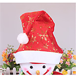 1PCS Snowflakes Printed Christmas Hats for New Year Gift Christmas Decoration Ramdon Color