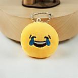 New Arrival Cute Emoji Laugh to Tears Key Chain Plush Toy Gift Bag Pendant