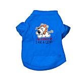 Dog Shirt / T-Shirt Dog Clothes Casual/Daily Cartoon Blue