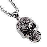 Men's Pendant Necklaces Chain Necklaces Skull Alloy Metallic Punk Jewelry For Halloween Stage