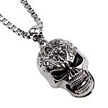 Муж. Ожерелья с подвесками Ожерелья-цепочки , Череп Сплав Хип-хоп Cool Бижутерия Назначение Рождество Бар