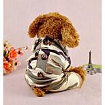 Собака Комбинезоны Одежда для собак На каждый день Геометрические линии Камуфляж цвета