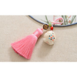 Bag / Phone / Keychain Charm Crystal / Rhinestone Style Tassel Polyester Tagua Nut Chinese Style 11.5CM