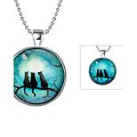 Муж. Ожерелья с подвесками Бижутерия Кот Серебрянное покрытие Животный дизайн Бижутерия Назначение Повседневные