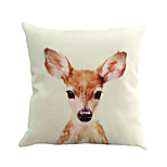 1 Pcs Cute Young Deer Animal Pillow Cover 45*45Cm Novelty Animals Pattern Pillow Case