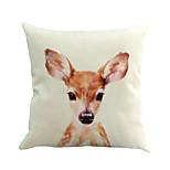 1 шт милый молодой олень животное подушка крышка 45 * 45 см новизны животных модель наволочка случае