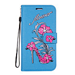 For Case Cover Card Holder Wallet with Stand Flip Pattern Full Body Case Flower Glitter Shine Hard PU Leather for Huawei Huawei P10 Plus