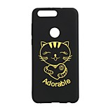 Case for Huawei P10 P8 Lite (2017) Hot Stamping Cat Pattern Back Cover Case Soft TPU for Huawei P9 Mate9 Honor 8 6X V9