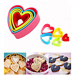 5PCS/ Set Plastic Cookie Cutter Biscuit Stamp Sugar Craft Cake Decorations Love