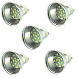 5 pezzi 3W Faretti LED 15 leds SMD 5730 Decorativo Bianco caldo Luce fredda 300lm 3000-7000
