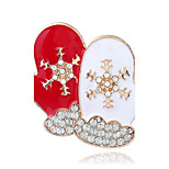 Women's Brooches Fashion Chrismas Rhinestone Alloy Jewelry For Christmas Street